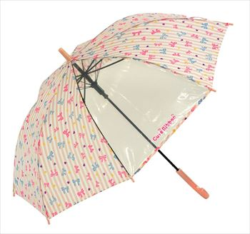 一部が透明になっている傘