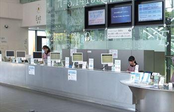 名古屋市科学館の受付