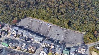 東山動物園の植田山駐車場 全体