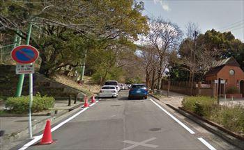 東山動物園周辺の路上駐車 正門