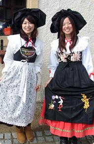 リトルワールドの衣装 アルザス伝統衣装