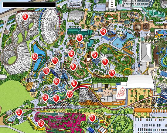 アトラクション スリル&スピードのマップ