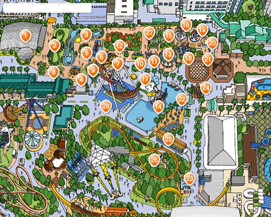 アトラクション キッズタウンのマップ