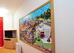 コチラを探すゲーム付きの壁掛けパネル