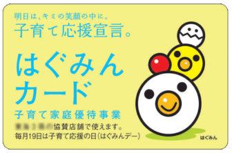 愛知県から発行される「はぐみんカード」