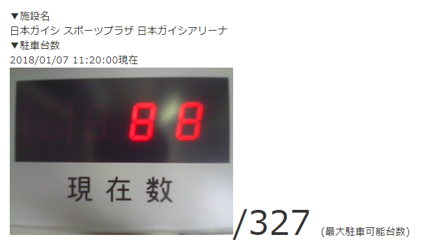 日本ガイシアリーナの収容台数