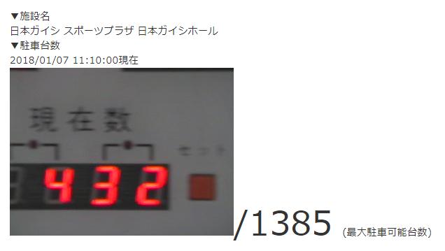 日本ガイシホールの収容台数