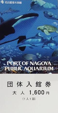 金券ショップやオークションの名古屋港水族館の入館券
