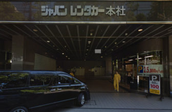 名古屋市科学館周辺にあるジャパンレンタカー御園店の駐車場