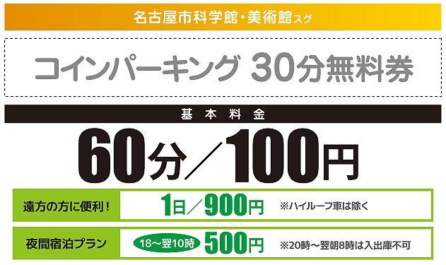ジャパンレンタカー御園店の30分無料券