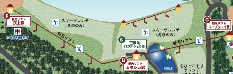 観光リフトの運行路線