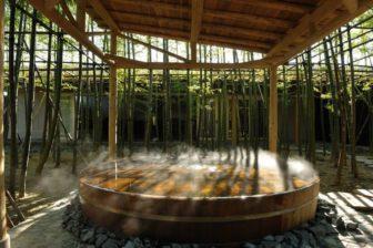 アクアイグニス片岡温泉の露天風呂