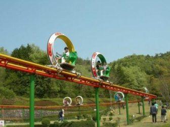 岐阜ファミリーパークのサイクルモノレール