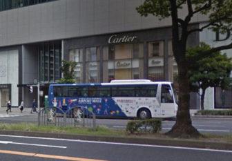 ミッドランドスクエア1階のCartier(カルティエ)前のバス停