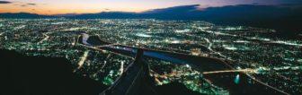 金華山麓駅付近からの夜景