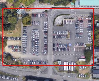 犬山城第1駐車場の航空写真