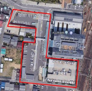 犬山城第3駐車場の航空写真