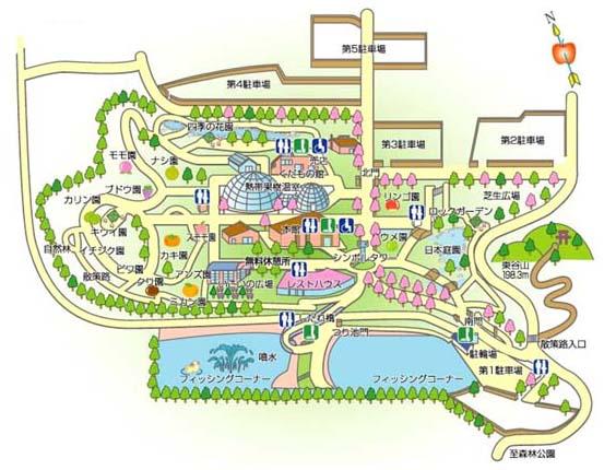 東谷山フルーツパークの地図