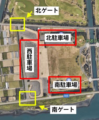 駐車場のゲートマップ