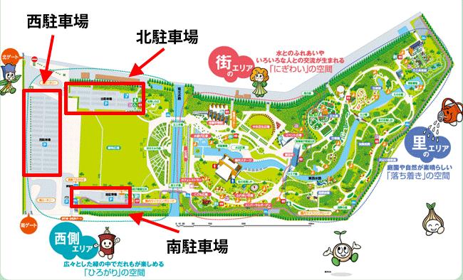 浜名湖ガーデンパークの全体マップ