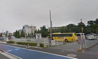 浜松城公園の駐車場の入口