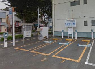 松城町駐車場の入口