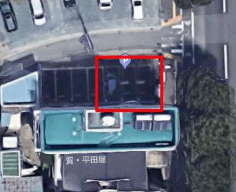 上から見た松城町駐車場