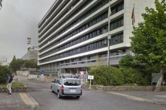 愛知県庁西庁舎の駐車場