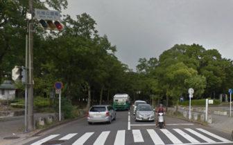 名古屋城と名城公園の間