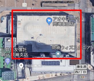 上から見たタイムズ岡崎ウィズスクエア02