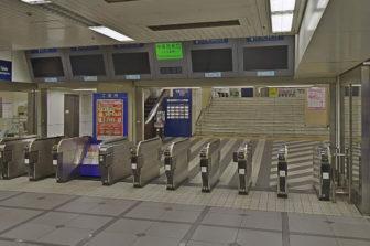 アクセス方法01-01-名鉄名古屋駅にある名鉄電車の中央改札口