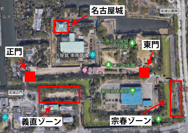 金シャチ横丁のマップ