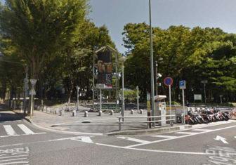 名古屋駅から伏見駅04-03-白川公園の入口