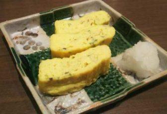 山本屋本店の青唐辛子の出汁巻き玉子