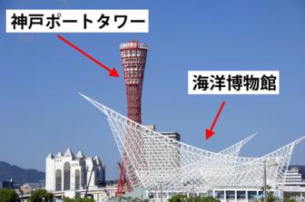 神戸ポートタワーと海洋博物館