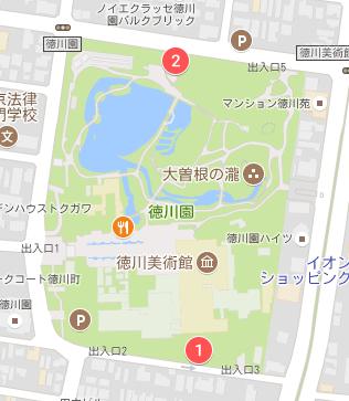 徳川美術館の駐車場の場所01