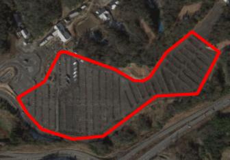 ぎふ清流里山公園の駐車場