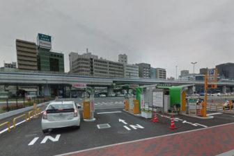 市営メリケンパーク駐車場の入口