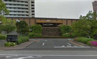 ホテルオークラ神戸の駐車場の入口