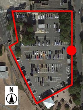 上から見た竹島園地駐車場