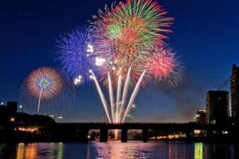 岡崎城下家康公夏祭りの花火