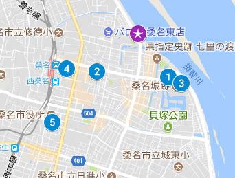 市営駐車場のマップ