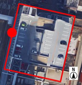 上から見た市営桑名駅前駐車場