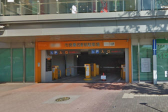 市営桑名駅前駐車場の入口