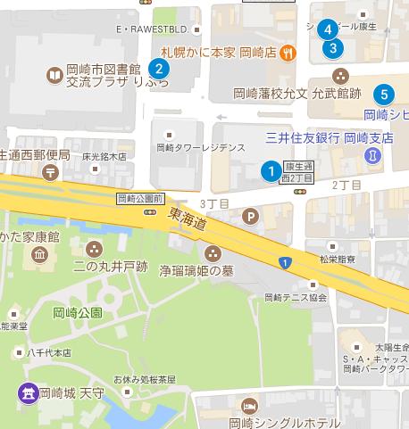 会場周辺の駐車場(有料)マップ