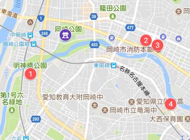 無料の臨時駐車場マップ