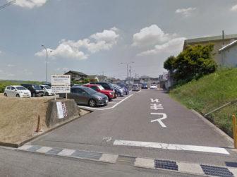 竜美丘会館駐車場の入口