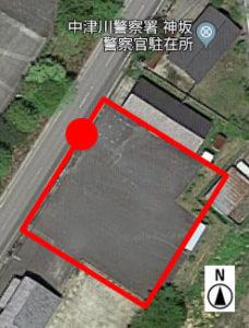上から見た駐車場 C-1