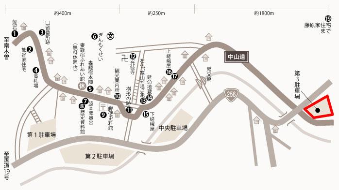 第三駐車場の地図