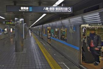 地下鉄鶴舞線の伏見駅から地下鉄に乗車
